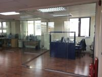 NEW AND USED 10MM TOUGHENEND GLASS PARTITIONS INC DOORS