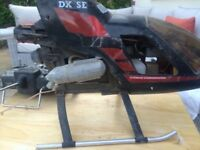 R/C petrol helicopter with transmitter