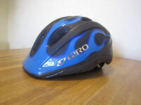 Giro Helmet (blue/black) for scooter or bike, 3+years, 50-55cm