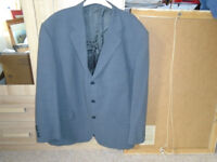 GENTS GREY JACKET, 50R, by CIRO CITTERIO, 49% POLYESTER and 40% WOOL, ONLY WORN TWICE