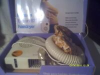 HAIRDRYER with a HOOD & the HOSE . IN V/G/C LITTLE USED , STILL BOXED .