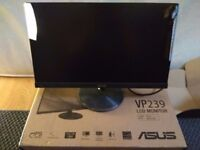 ASUS VP239H 23 inch FHD, 1920 x 1080, IPS, Frameless, Flicker Free, Low Blue Light
