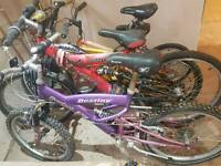 Selection of 4 bikes bmx mountain girls boys