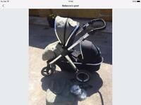 Oyster max 2 double/tandem pram