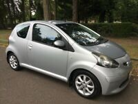 TOYOTA AYGO PLATINUM 1.0 VVT-I EDITION, 5 DOOR, MANUAL 5 SPEED GEARBOX, LOW MILES 63400 £20 ROAD TAX