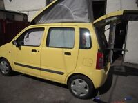 SUZUKI WAGON R+ ESTATE ONE BERTH CAMPER VAN, COOKING AND WASHING FACILITIES SEPERATE HEATING SYSTEM