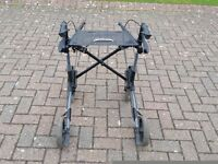 MOBILITY WALKER / WALKING AID / 4 WHEELS, BRAKES, CLOTH SEAT