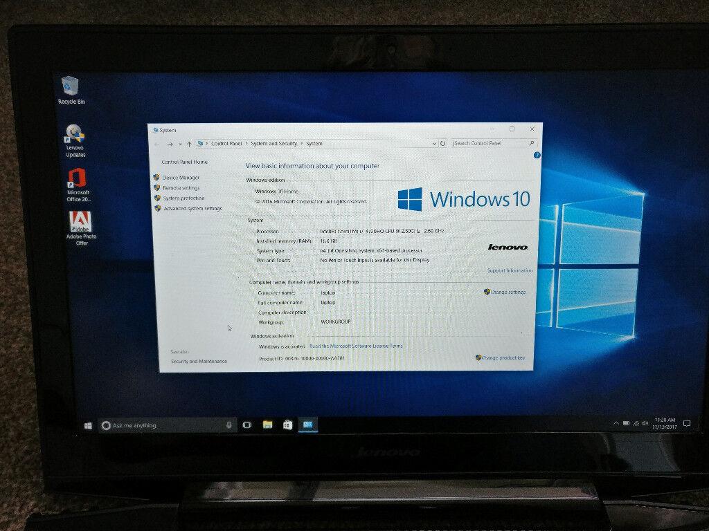 Lenovo Y50-70 gaming laptop 16GB 1TB+8GB SSHD GeForce 960M Graphics