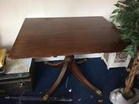 Claw foot table possibly mahogany