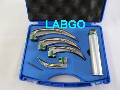 Conventional Laryngoscope Kit Set Of 4 Blades Handle In Case Labgo 308
