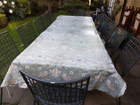 Luxury 12 Seater Italian Metal Garden Patio Furniture Set Table & Chairs made by EMU