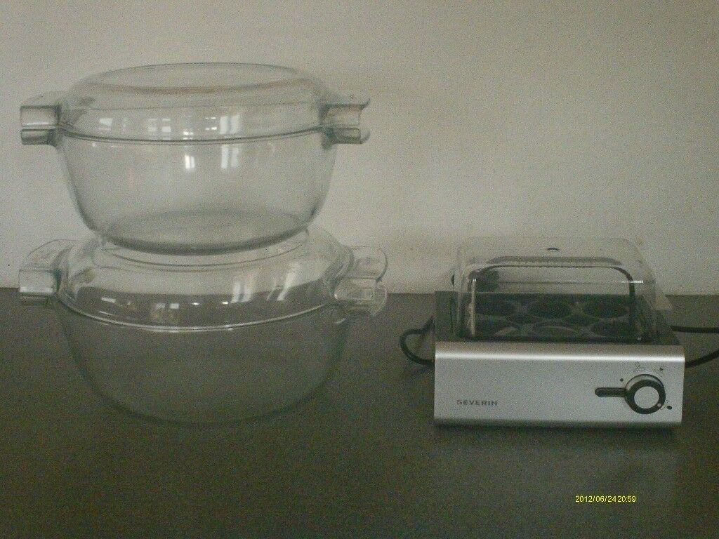 Pirex bowls and Egg cooker by Severin