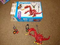 Playmobil red dragon, complete with box