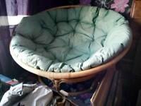 Large cane papasan chair