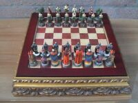Beautiful ROBIN HOOD themed collectable chess set (As New)