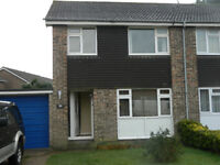 3 bedroom family house , garage, driveway, suntrap garden, available now.