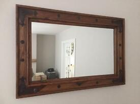 'INDIAN WOOD' STYLE MIRROR