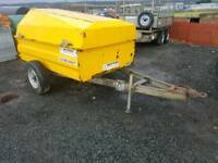 Western 1100 litre bunded diesel bowser trailer with filling hose and nozzle tractor digger
