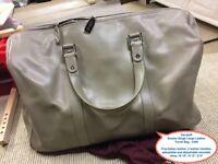 Davidoff Boston Beige Large Leather Travel Bag - £400