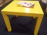 Ikea yellow side table/ coffee tables