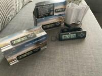 2 digital car thermometers