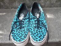 Ladies leopard print Vans for sale