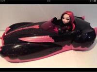 Monster High Draculaura Doll With Car