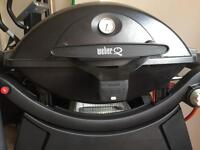 Weber Q3200 on permanent cart and heavy duty cover