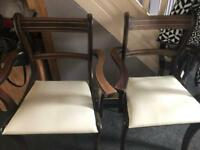 2x carver chairs