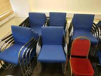 Very Comfortable and reasonable price conference and meeting hall stockable chairs.