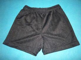 Black School PE Shorts Age 5-6 Years IP1