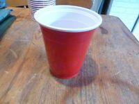 SOLO COLD DRINK PLASTIC CUPS. RED AND WHITE 12OZ - 14OZ 1000 PER BOX