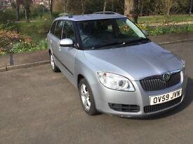 Skoda Fabia Estate 1.4 TDI PD 80 2009 Silver, FSH, 2 owners, 60+ mpg, £30 road tax, ABS, airbags