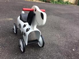 Wooden dog scooter