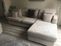 Modern moveable side sofa and cuddle chair in top condition