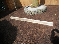 WOODEN POSTS 4inches x 4 inches x 2300mm £5 EACH