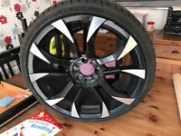 wolf face assasin alloys 4 stud multifit 18inch could do with refurb all tyers like brand new