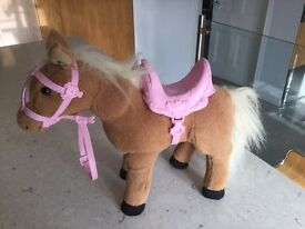 Baby Born Interactive Pony - as new - great Christmas present!