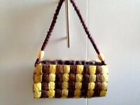 2 Very Nice Hand bags Lamarthe and Vintage Coconut Bag