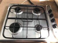 Indesit PIM640AS 4 Burner 60cm Gas Hob Stainless Steel.