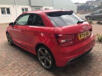 Audi A1 Red Black Edition S LINE SAT NAV LOW MILEAGE FULL YEAR MOT AND 4 months warranty left