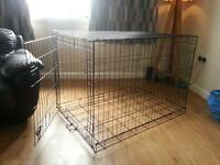 Xl folding dog crate/cage