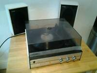 Vintage fidelity ua4 stereo record player + speakers needs attention