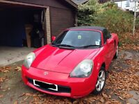 2002 TOYOTA MR2 ROADSTER IN RED 1.8 VVTi MANUAL BREAKING FOR PARTS