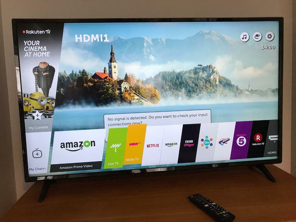 LG 43inch 4k tv 2 weeks old