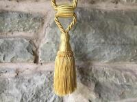 4 Gold shimmering Curtain Tie Backs £5 each