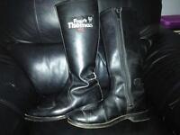 Vintage frank Thomas motorbike boots size 9