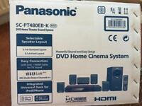 Panasonic SAPT480 surround system HDMI, IPod connection & DVD facility