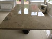 Italian Stone Dining Table with Swarovski Crystal chips