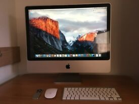 Apple IMac 24-inch with (250GB SSD) original apple wireless mouse,keyboard,remote